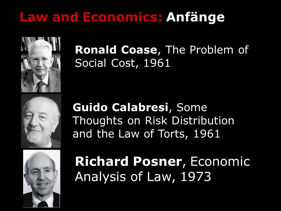 Law and Economics: Anfänge