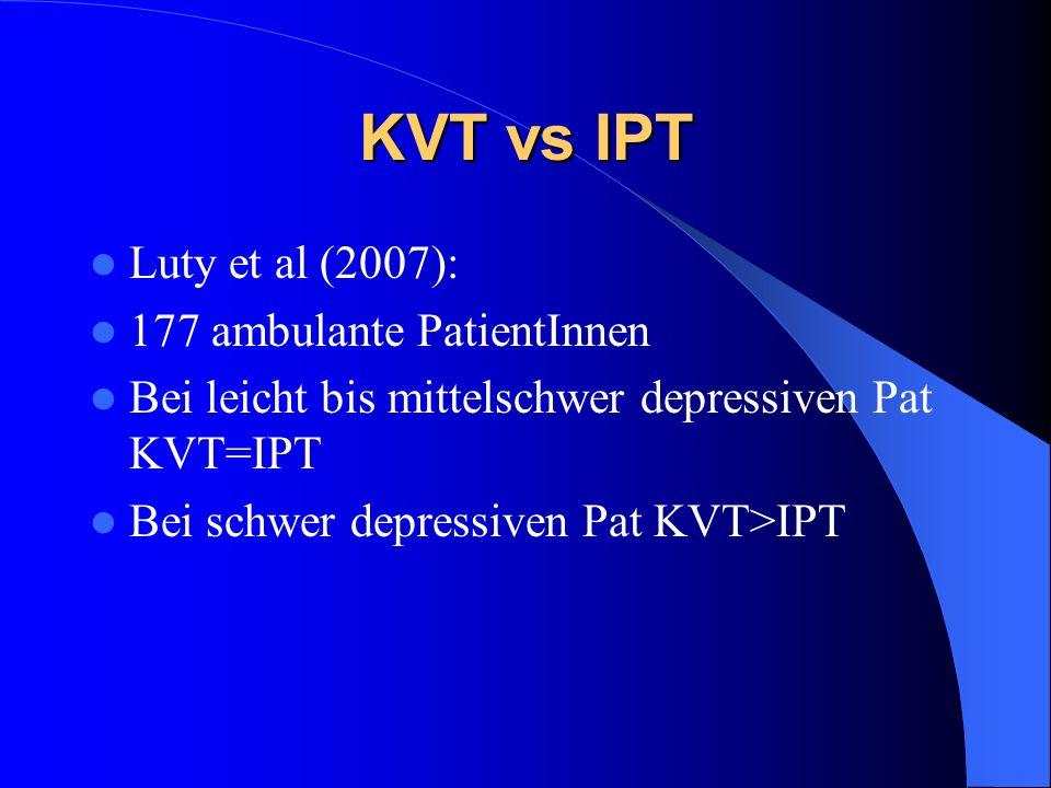 KVT vs IPT Luty et al (2007): 177 ambulante PatientInnen