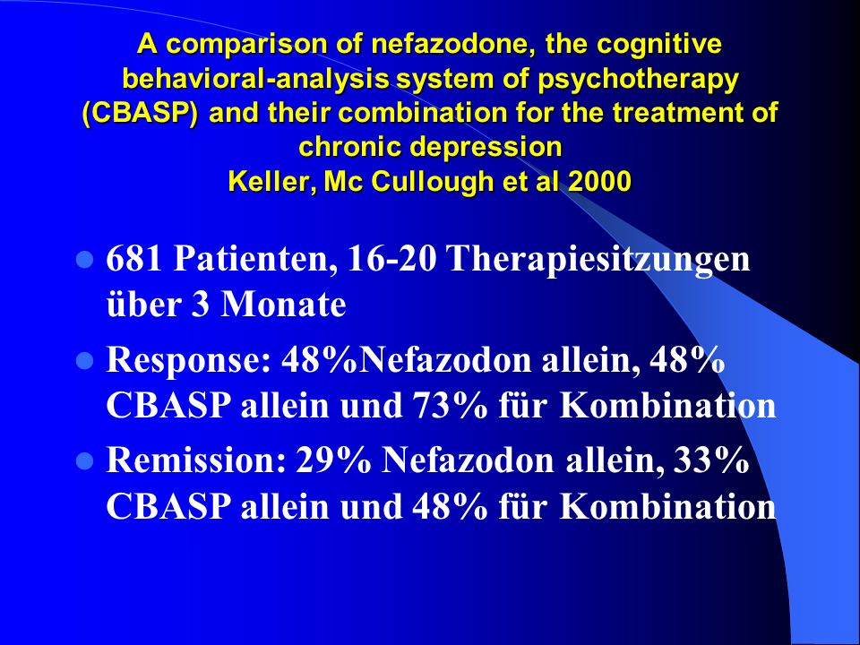 681 Patienten, 16-20 Therapiesitzungen über 3 Monate