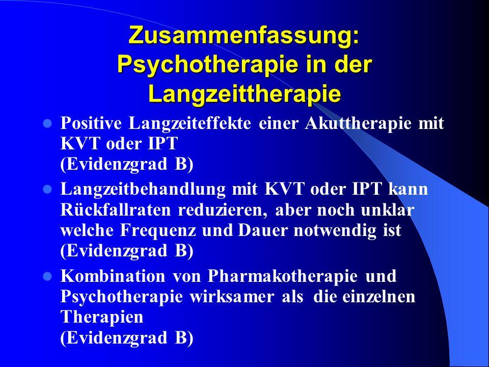 Zusammenfassung: Psychotherapie in der Langzeittherapie