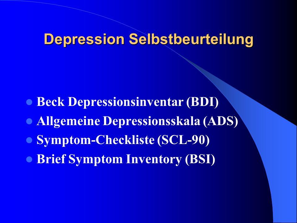 Depression Selbstbeurteilung