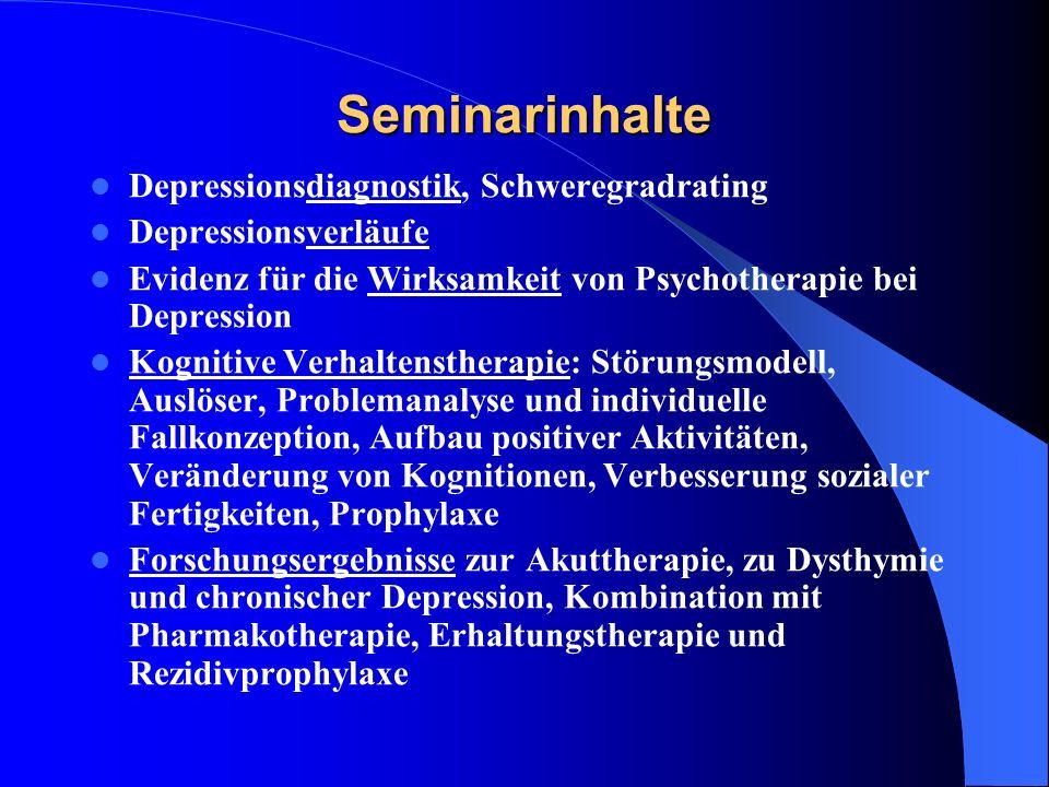 Seminarinhalte Depressionsdiagnostik, Schweregradrating