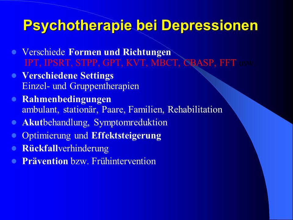 Psychotherapie bei Depressionen