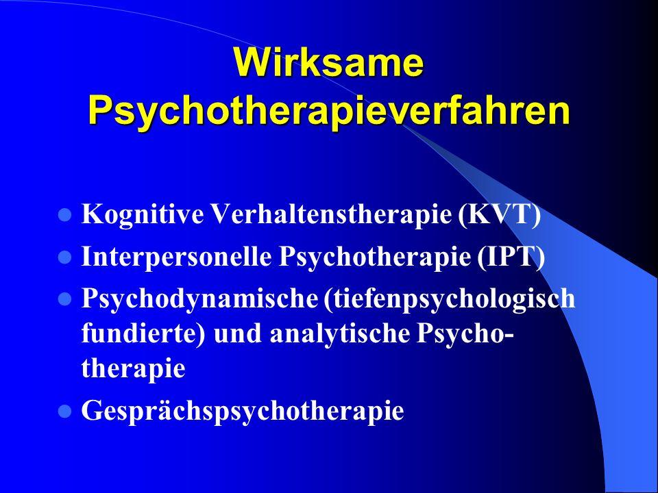 Wirksame Psychotherapieverfahren