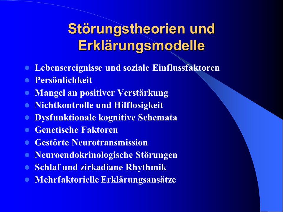 Störungstheorien und Erklärungsmodelle
