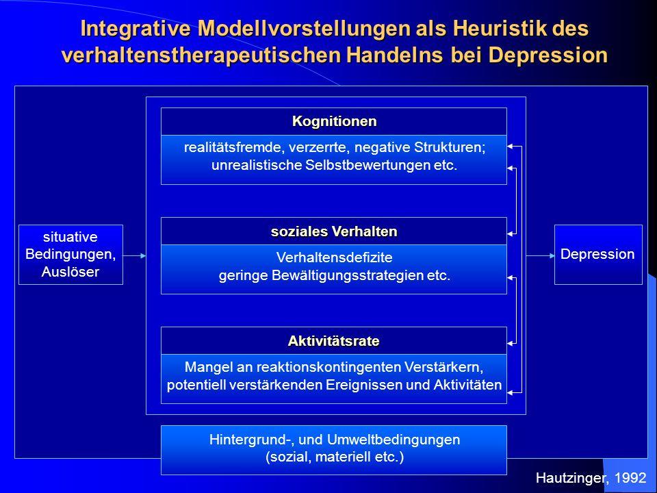 Integrative Modellvorstellungen als Heuristik des verhaltenstherapeutischen Handelns bei Depression