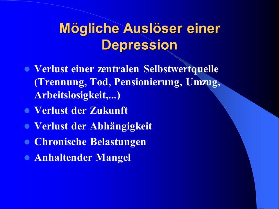 Mögliche Auslöser einer Depression