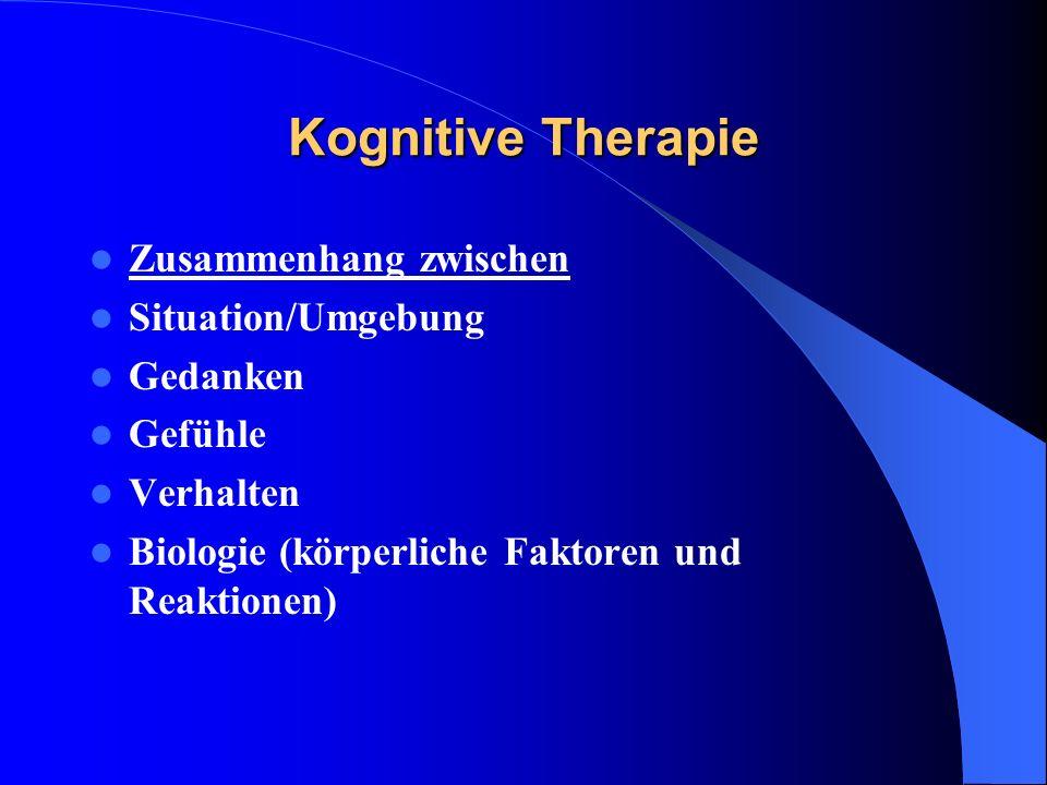 Kognitive Therapie Zusammenhang zwischen Situation/Umgebung Gedanken