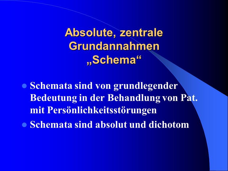 """Absolute, zentrale Grundannahmen """"Schema"""