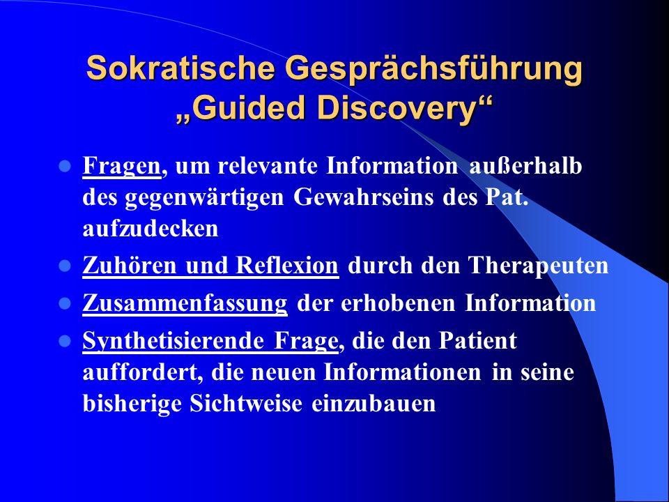 """Sokratische Gesprächsführung """"Guided Discovery"""