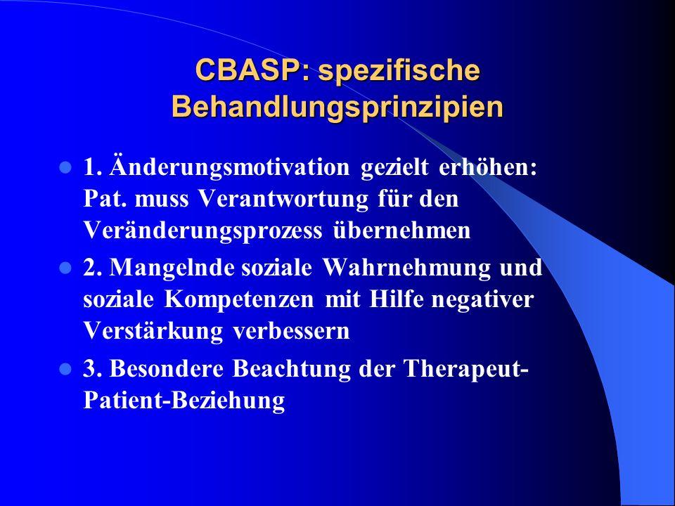 CBASP: spezifische Behandlungsprinzipien
