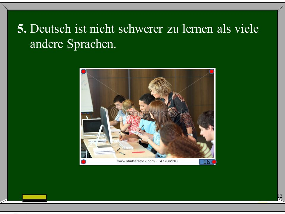 5. Deutsch ist nicht schwerer zu lernen als viele andere Sprachen.