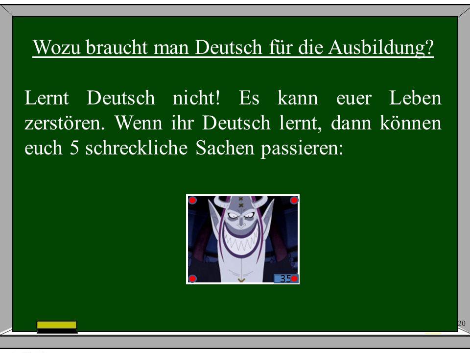 Wozu braucht man Deutsch für die Ausbildung