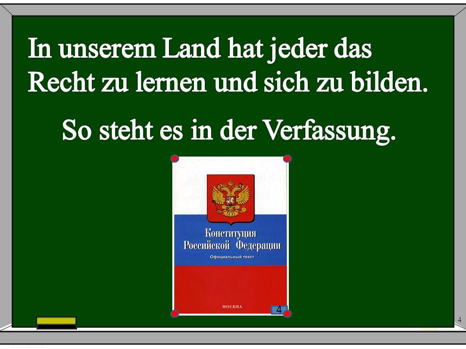 So steht es in der Verfassung.