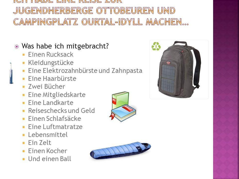 Ich habe eine Reise zur Jugendherberge Ottobeuren und Campingplatz Ourtal-Idyll machen…