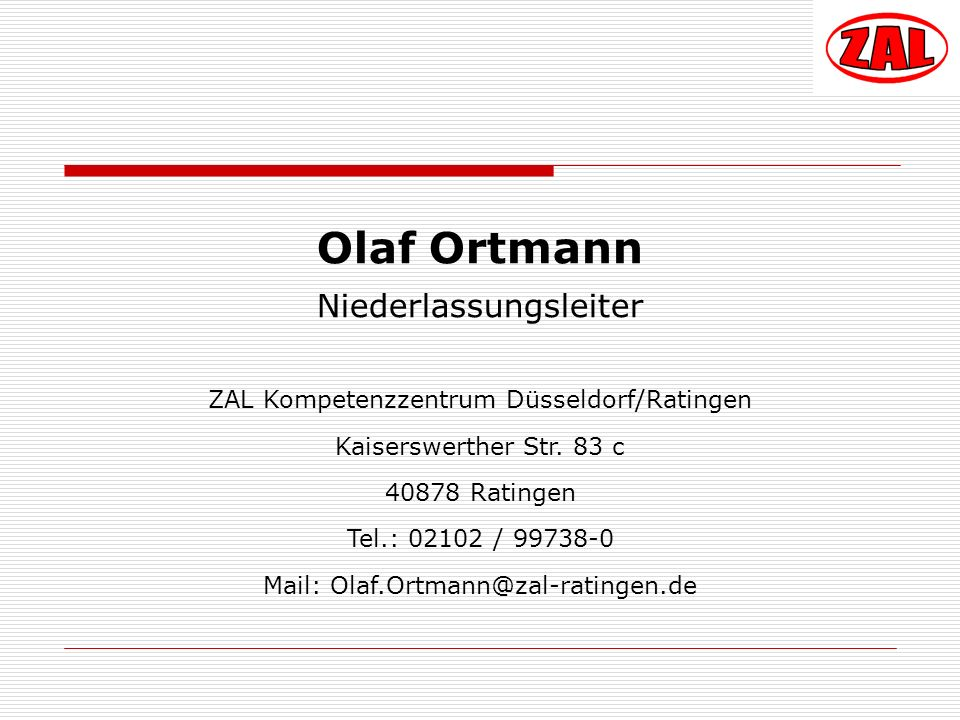 Olaf Ortmann Niederlassungsleiter