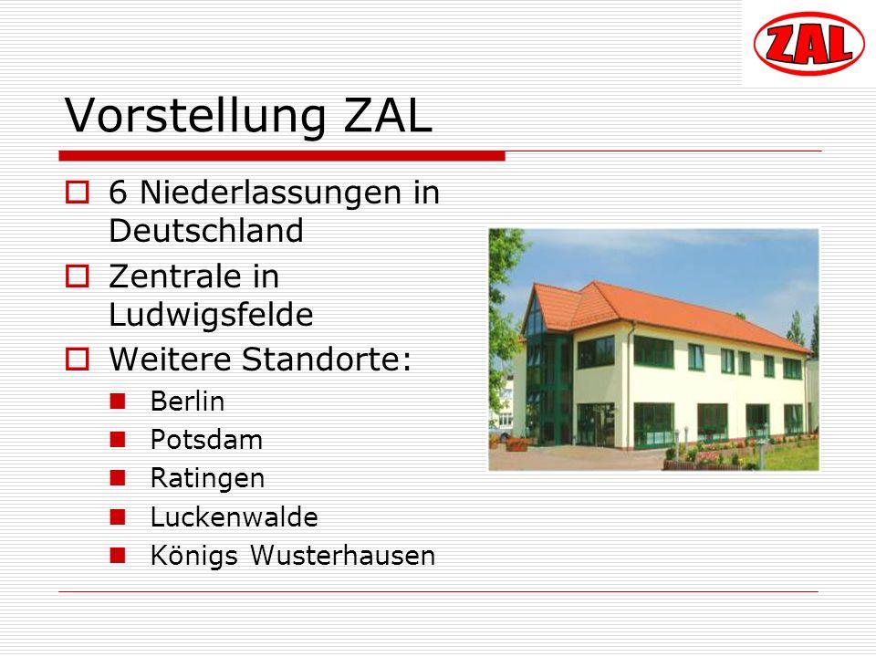 Vorstellung ZAL 6 Niederlassungen in Deutschland