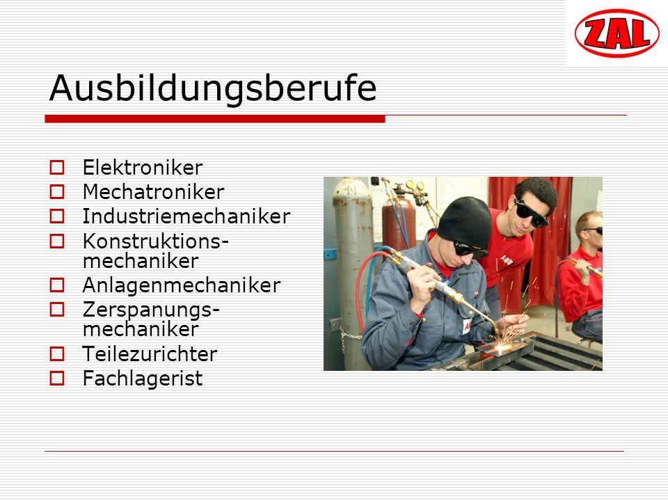 Ausbildungsberufe Elektroniker Mechatroniker Industriemechaniker