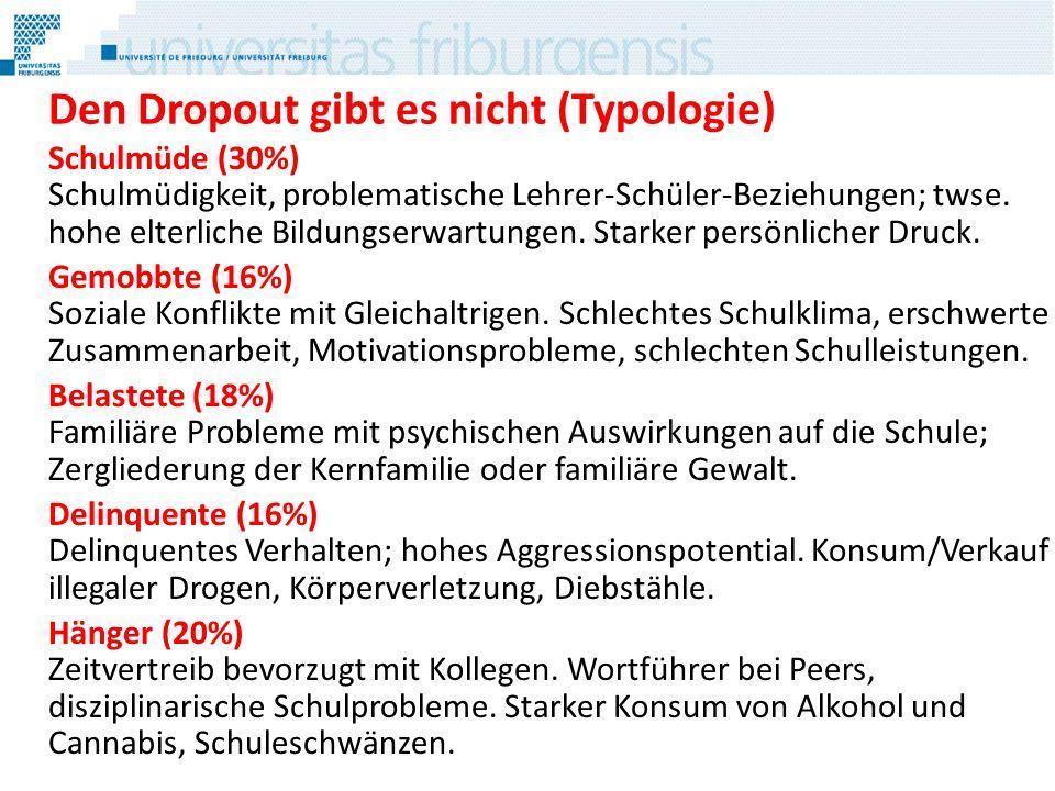Den Dropout gibt es nicht (Typologie)