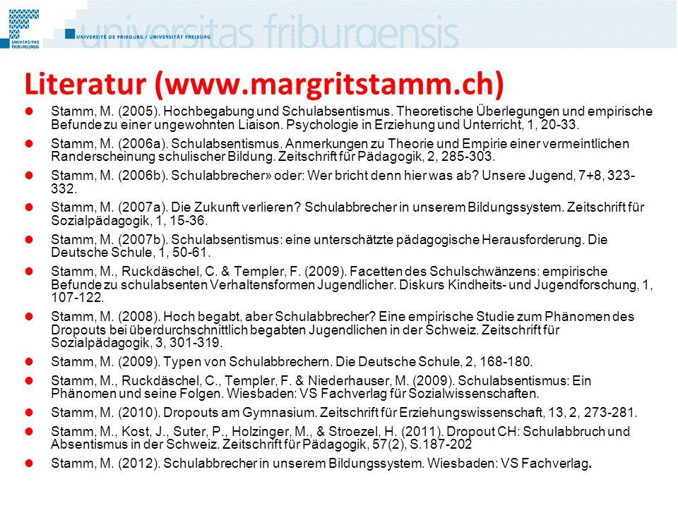 Literatur (www.margritstamm.ch)