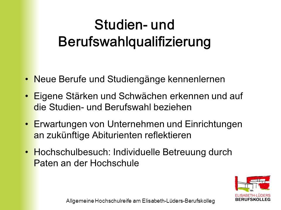 Studien- und Berufswahlqualifizierung