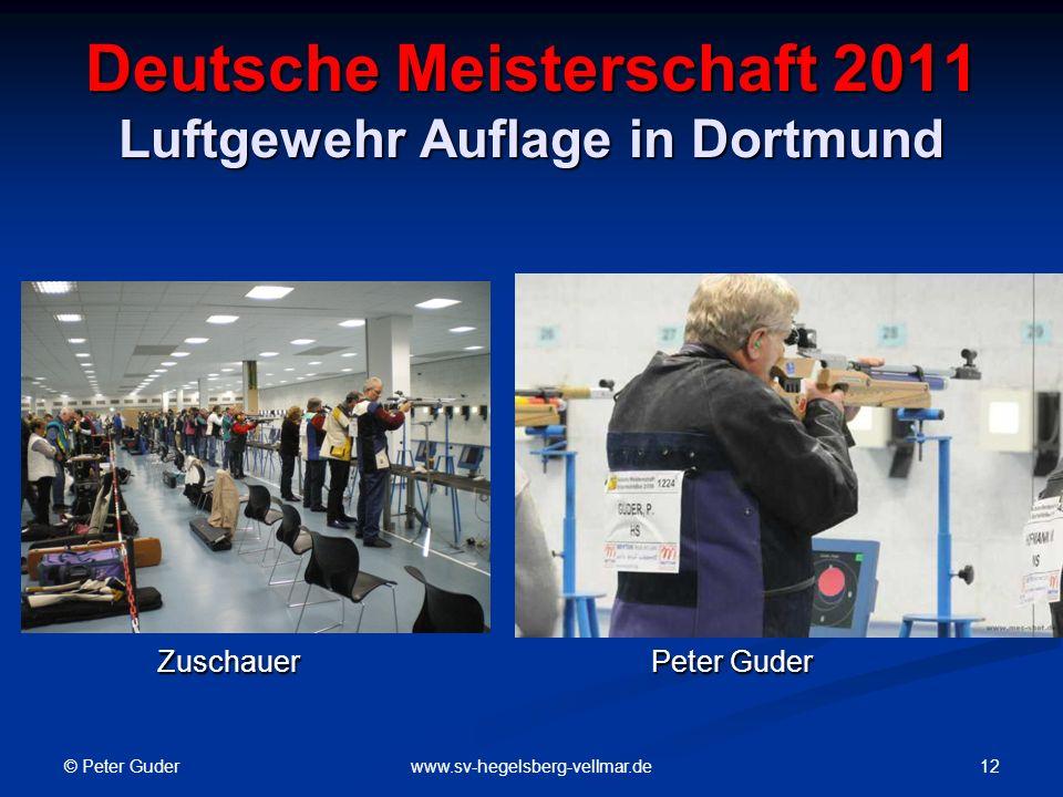 Deutsche Meisterschaft 2011 Luftgewehr Auflage in Dortmund