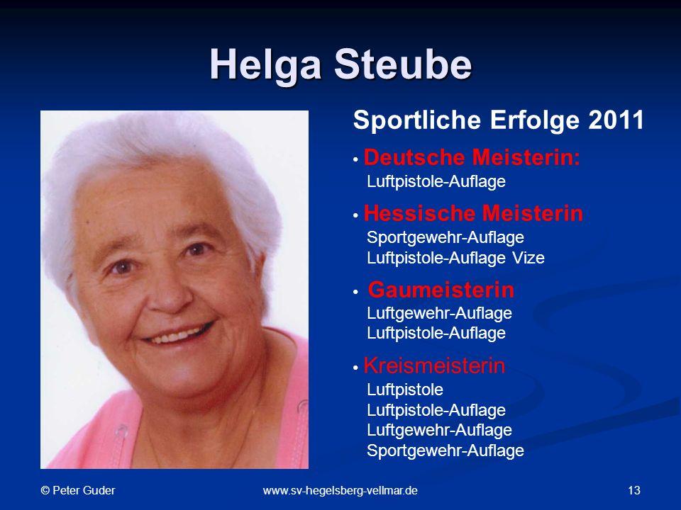 Helga Steube Sportliche Erfolge 2011