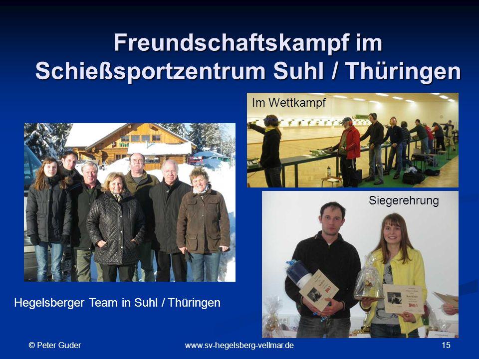 Freundschaftskampf im Schießsportzentrum Suhl / Thüringen