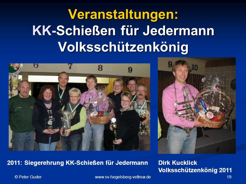 Veranstaltungen: KK-Schießen für Jedermann Volksschützenkönig