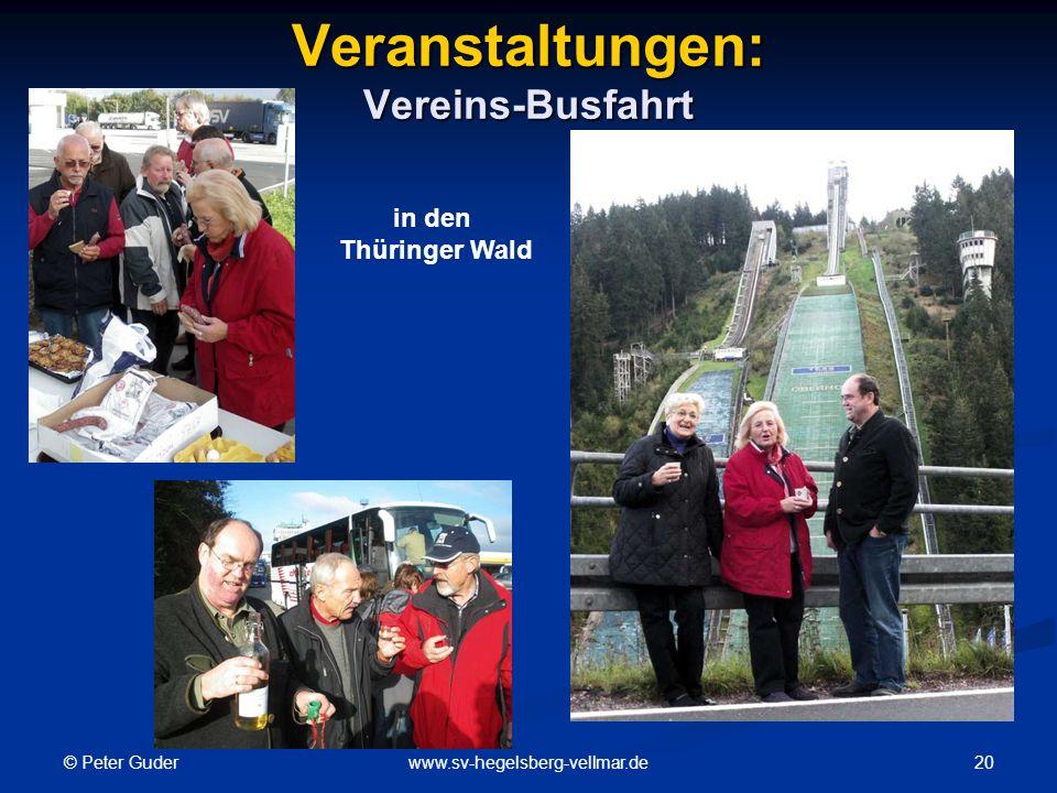 Veranstaltungen: Vereins-Busfahrt
