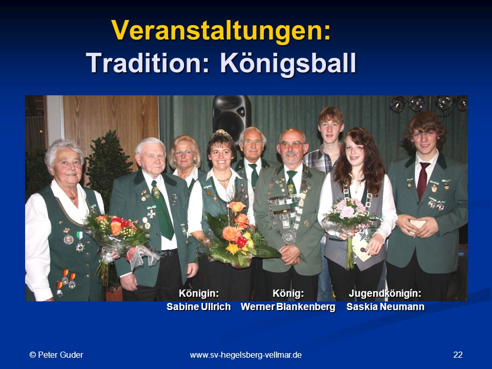 Veranstaltungen: Tradition: Königsball
