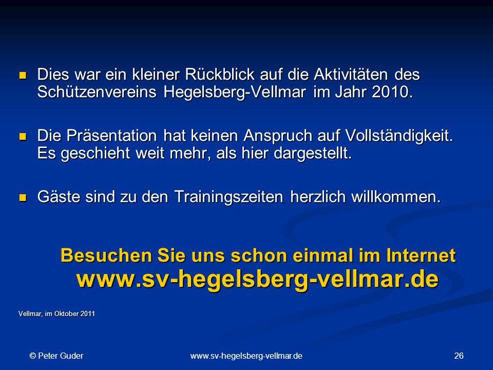 Besuchen Sie uns schon einmal im Internet www.sv-hegelsberg-vellmar.de