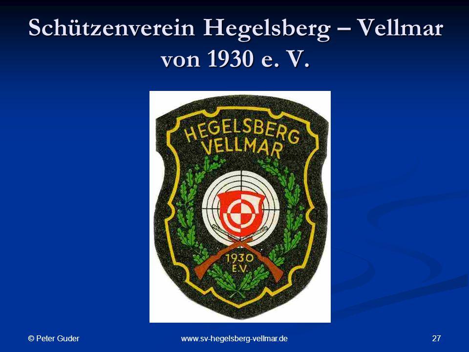Schützenverein Hegelsberg – Vellmar von 1930 e. V.