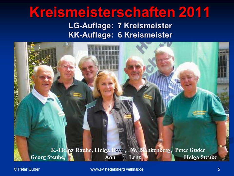 Kreismeisterschaften 2011 LG-Auflage: 7 Kreismeister KK-Auflage: 6 Kreismeister