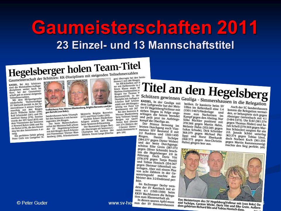 Gaumeisterschaften 2011 23 Einzel- und 13 Mannschaftstitel