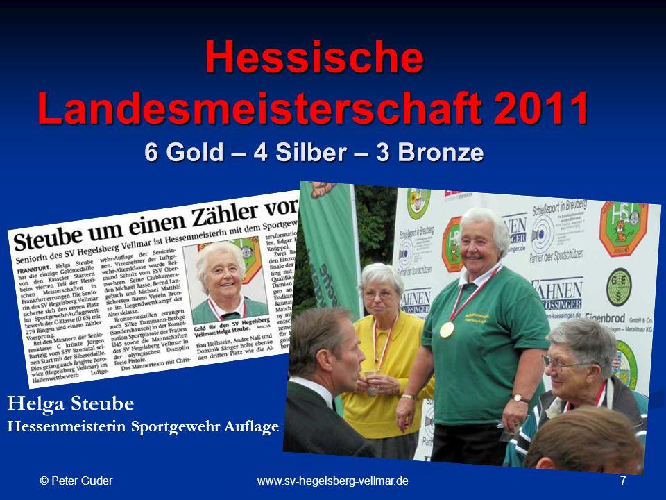 Hessische Landesmeisterschaft 2011 6 Gold – 4 Silber – 3 Bronze