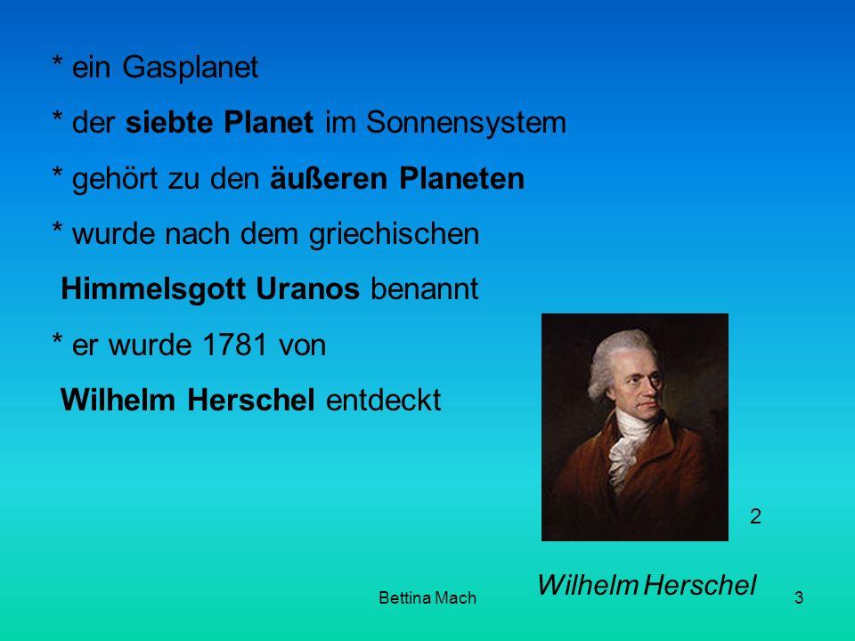 * der siebte Planet im Sonnensystem * gehört zu den äußeren Planeten