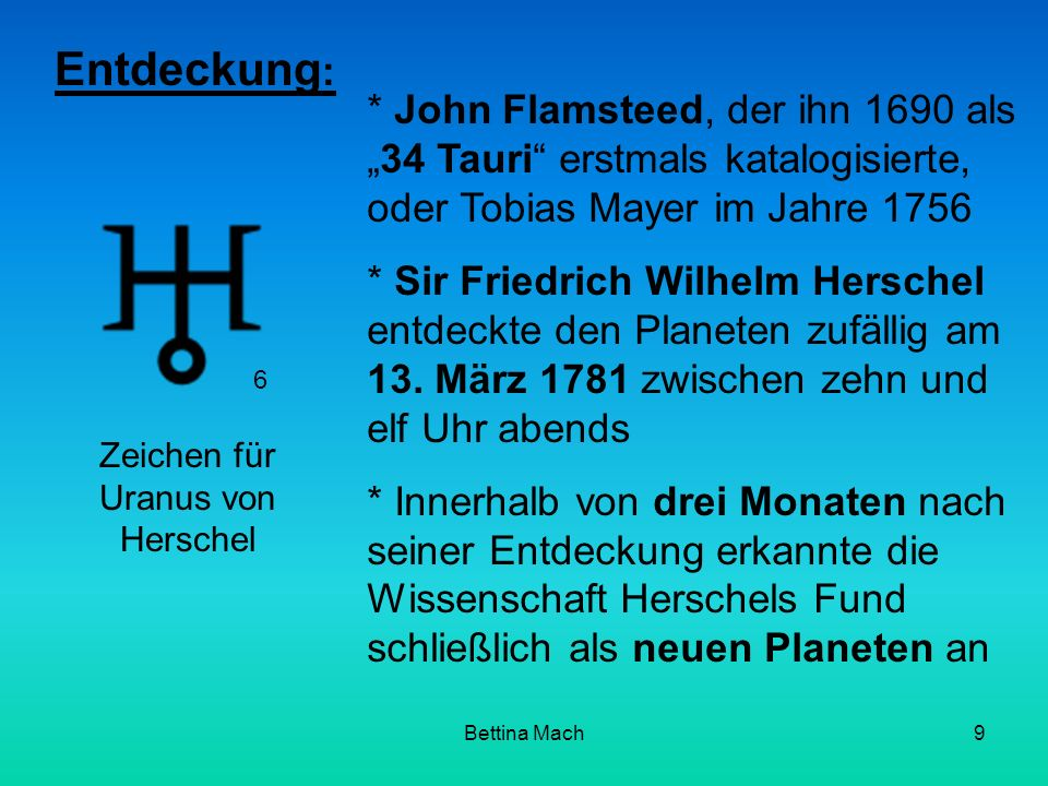 Zeichen für Uranus von Herschel