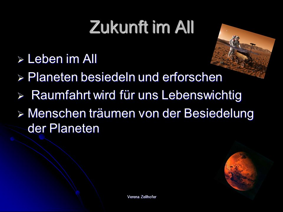 Zukunft im All Leben im All Planeten besiedeln und erforschen