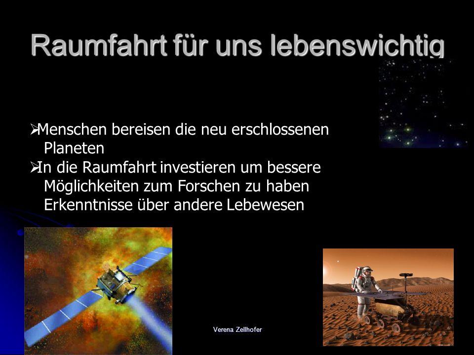 Raumfahrt für uns lebenswichtig