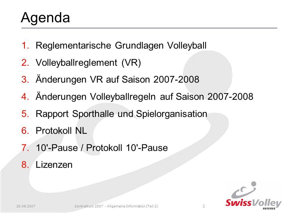 Zentralkurs 2007 - Allgemeine Information (Teil 2)
