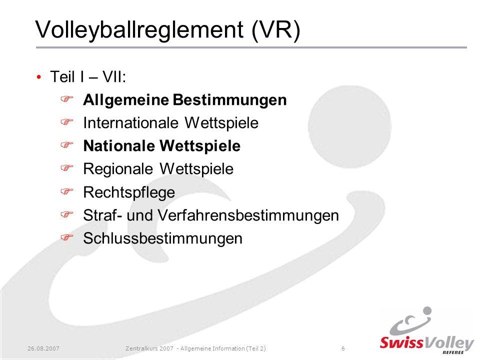 Volleyballreglement (VR)