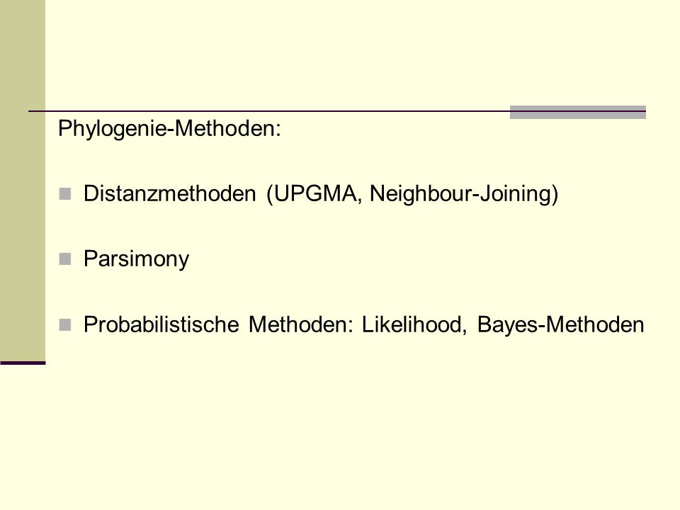 Phylogenie-Methoden: