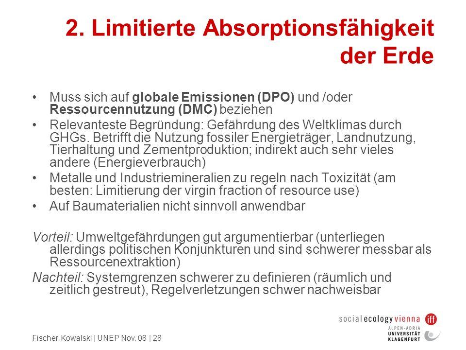 2. Limitierte Absorptionsfähigkeit der Erde