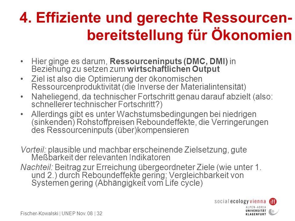 4. Effiziente und gerechte Ressourcen-bereitstellung für Ökonomien