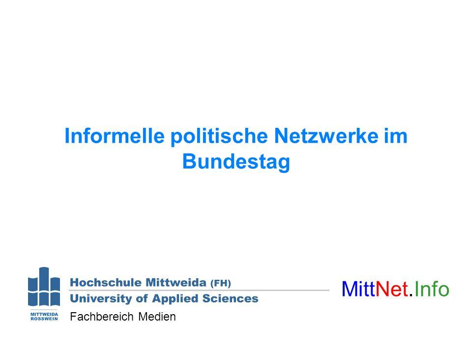 Informelle politische Netzwerke im Bundestag