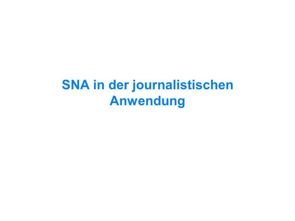 SNA in der journalistischen Anwendung