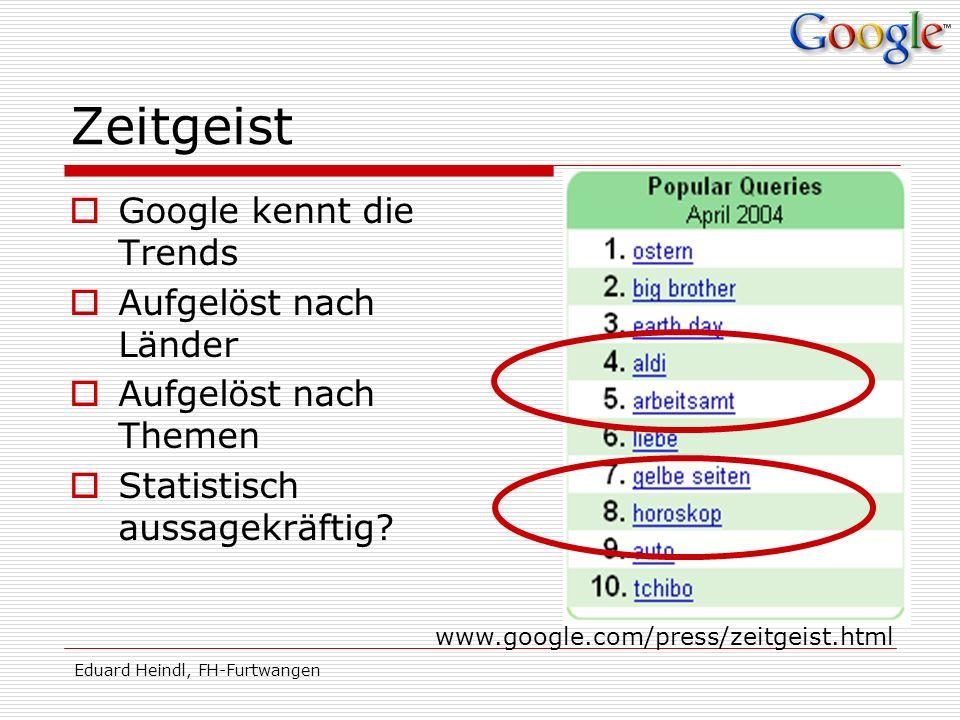 Zeitgeist Google kennt die Trends Aufgelöst nach Länder