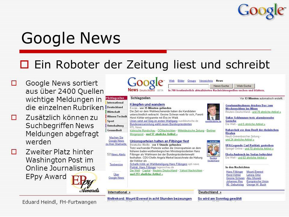 Google News Ein Roboter der Zeitung liest und schreibt