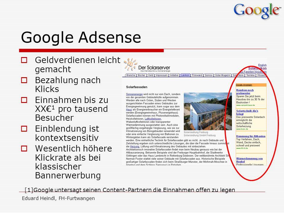 Google Adsense Geldverdienen leicht gemacht Bezahlung nach Klicks